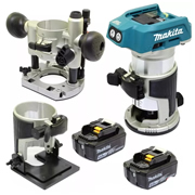 Makita DRT50RMJX2 Makita 18v Cordless Brushless Router/Trimmer 4.0Ah Kit
