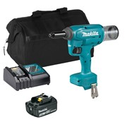 Makita DRV250ITS 18v LXT Brushless 30mm Rivet Gun with 1 x 3Ah Battery, Charger and Bag