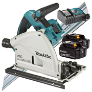 Makita DSP600RJ-KIT1 Makita Twin 18v Li-ion 3.0Ah Brushless Cordless Plunge Cut Saw Kit