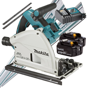 Makita DSP600RJ-KIT2 Makita Twin 18v Li-ion 3.0Ah Brushless Cordless Plunge Cut Saw Kit