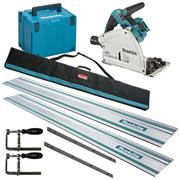 Makita DSP600RJ-KIT3 Makita Twin 18v Li-ion 3.0Ah Brushless Cordless Plunge Cut Saw Kit