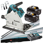 Makita DSP600RT-KIT3 36v Li-ion 165mm Brushless Plunge Saw - 5Ah Kit 3