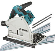 Makita DSP600ZJ-KIT2 Makita Twin 18v Li-ion Brushless Cordless Plunge Cut Saw Kit