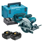 Makita DSS501RTJ Makita DSS501RTJ 18V LXT 136mm Circular Saw with 2 x 5Ah Batteries, Charger and Case