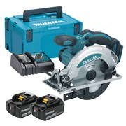 Makita DSS610RTJ Makita DSS610RTJ 18V LXT 165mm Circular Saw with 2 x 5Ah Batteries, Charger and Case