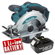 Makita DSS610Z3 Makita 18v Li-ion Circular Saw 165mm Body + 1 x 3.0Ah Battery