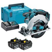 Makita DSS611RMJ Makita DSS611RMJ 18V LXT 165mm Circular Saw with 2 x 4Ah Batteries, Charger and Case