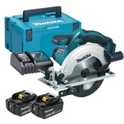 Makita DSS611RMJ Makita DSS611RTJ 18V LXT 165mm Circular Saw with 2 x 5Ah Batteries, Charger and Case