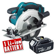 Makita DSS611Z4 Makita 18v Li-ion Circular Saw 165mm Body + 1 x 4.0Ah Battery