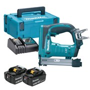 Makita DST221RTJ Makita DST221RTJ 18V LXT Stapler with 2 x 5Ah Batteries, Charger and Case