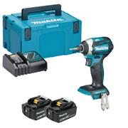 Makita DTD154RTJ 18v Brushless Impact Driver with 2 x 5Ah Batteries, Charger and Case