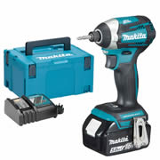 Makita DTD154RTJX Makita 18v Li-ion 5.0Ah Cordless Brushless Impact Driver