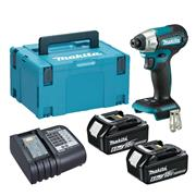 Dewalt  Makita DTD157 18V LXT Brushless Impact Driver with 2x 6.0Ah Batteries, Charger & Case