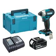Dewalt  Makita DTD157 18V LXT Brushless Impact Driver with 1x 6.0Ah Battery, Charger & Case