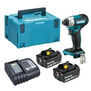 Dewalt  Makita DTD157 18V LXT Brushless Impact Driver with 2x 3.0Ah Batteries, Charger & Case