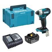 Dewalt  Makita DTD157 18V LXT Brushless Impact Driver with 1x 3.0Ah Battery, Charger & Case