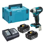 Dewalt  Makita DTD157 18V LXT Brushless Impact Driver with 2x 5.0Ah Batteries, Charger & Case