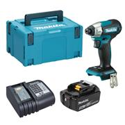 Dewalt  Makita DTD157 18V LXT Brushless Impact Driver with 1x 5.0Ah Battery, Charger & Case
