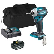 Makita DTD171ITS Makita DTD171ITS 18V LXT Brushless Impact Driver with 1 x 3Ah Battery, Charger and Bag