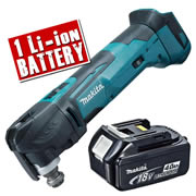 Makita DTM51-Z4 Makita 18v Li-ion Multi-Tool Body + 1 x  4.0Ah Battery