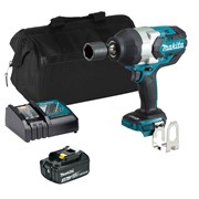 Makita DTW1001ITS Makita DTW1001ITS 18V LXT Brushless 3/4'' Impact Wrench with 1 x 3Ah Battery, Charger and Bag