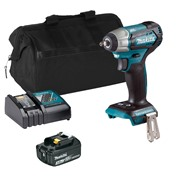 Makita DTW180ITS Makita DTW180ITS 18V LXT Brushless 3/8'' Impact Wrench with 1 x 3Ah Battery, Charger and Bag