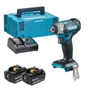 Makita DTW180RTJ Makita DTW180RTJ 18V LXT Brushless 3/8'' Impact Wrench with 2 x 5Ah Batteries, Charger and Case