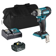 Makita DTW181ITS Makita DTW181ITS 18V LXT Brushless 1/2'' Impact Wrench with 1 x 3Ah Battery, Charger and Bag