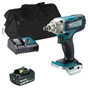 """Makita DTW190ITS 18v LXT 1/2"""" Impact Wrench with 1 x 3Ah Battery, Charger and Bag"""