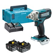 Makita DTW190RMJ Makita DTW190RMJ 18V LXT 1/2'' Impact Wrench with 2 x 4Ah Batteries, Charger and Case