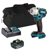 Makita DTW285ITS Makita DTW285ITS 18V LXT Brushless 1/2'' Impact Wrench with 1 x 3Ah Battery, Charger and Bag
