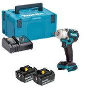 "Makita DTW285RMJ 18v LXT 1/2"""" Impact Wrench with 2 x 4Ah Batteries, Charger and Case"