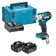 Makita DTW300RTJ 18V LXT Brushless Impact Wrench with 2x 5Ah Batteries, Charger & Case