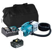 Makita DVC350ITS Makita DVC350ITS 18V LXT Vacuum Cleaner with 1 x 3Ah Battery, Charger and Bag