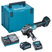 Makita GA012GD101 40V MAX XGT 115mm Brushless Angle Grinder with Paddle Switch, 1x 2.5Ah Battery, Charger & Case