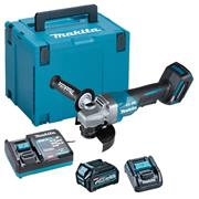 Makita GA013GD101 40V MAX XGT 125mm Brushless Angle Grinder with Paddle Switch, 1x 2.5Ah Battery, Charger & Case