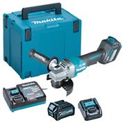 Makita GA029GD101 40V MAX XGT Brushless 125mm Paddle Switch Brushless Grinder with 1x 2.5Ah Battery, Charger & Case