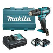 Makita HP333DWAE 12v CXT Combi Drill with 2 x 2Ah Batteries, Charger and Case