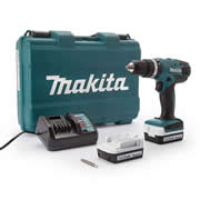 Makita HP347 Makita 14.4v Li-ion Hammer Drill Driver - With 2  x 1.3Ah Batteries