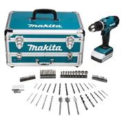 18v G Series Combi Drill with 1 x 1.3Ah Battery, Charger and Case with Accessory Kit