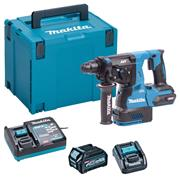 Makita HR003GD101 40V MAX XGT Brushless SDS+ Drill with 1x 2.5Ah Battery, Charger & Adaptor (for LXT) & Case