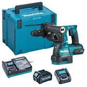 Makita HR004GD101 Makita HR004GD101 40V MAX XGT Brushless SDS Drill + Chuck, 1x 2.5Ah Battery, Charger Adaptor & Case