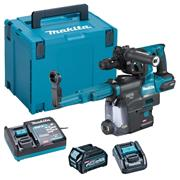 Makita HR004GD102 Makita HR004GD102 40V MAX XGT Brushless SDS Drill, Chuck & Dust Box + 1x 2.5Ah Battery, Charger Case