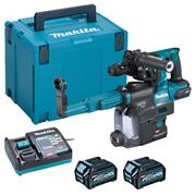 Makita HR004GD202 Makita HR004GD202 40V MAX XGT Brushless SDS & Chuck, DC14 Dust Box 2x 2.5Ah Batteries, Charger, Case