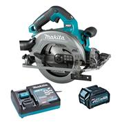 Makita HS004GD103 40V MAX XGT Brushless 190mm Circular Saw with AWS with 1x 2.5Ah Battery, Charger & Adaptor
