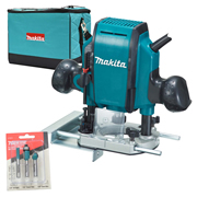 "Makita RP0900X 1/4"" Shank Router with bag"