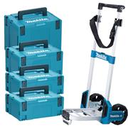Makita STACK1 Makita STACK1 Stackable MakPac Case 4 Piece Set + Trolley