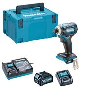 Makita TD001GD103 40V MAX XGT Impact Driver 2X with 1x 2.5Ah Battery, Charger & Adaptor (for LXT) & Case