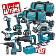 Makita TOPKIT8CJ Makita 18v 8 Piece Li-ion Fully Brushless Kit