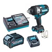 Makita TW001GD102 Makita 40V Max XGT Brushless Impact Wrench with 1x 2.5Ah Battery, Charger & Adaptor (for LXT) & Case